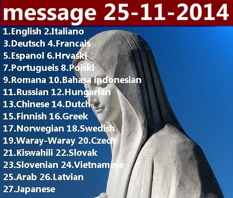 Message from Medjugorje 25-11-2014