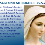 Message from Medjugorje 25-05-2015 (in 28 languages)