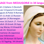 Message from Medjugorje 25-06-2015 (in 34 languages)