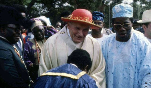 John Paul II to the Nigerian families