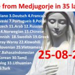 Message from Medjugorje 25-08-2016 (in 35 languages)