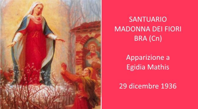 L'apparizione della Vergine ad Egidia Mathis a Bra