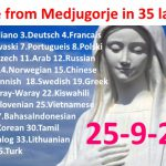 Message from Medjugorje 25-09-2016 (in 35 languages)