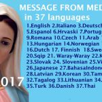 Message from Medjugorje 25-1-2017 (in 37 languages)