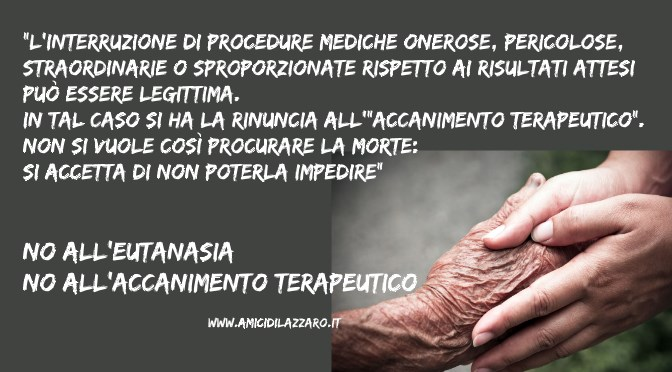 Cattolici, eutanasia e cure palliative