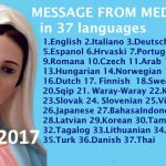 Message from Medjugorje 25-2-2017 (in 37 languages)