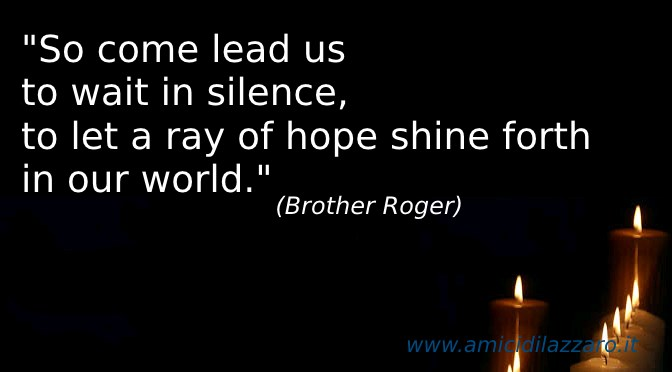 The Pax Christi Prayer (Brother Roger)