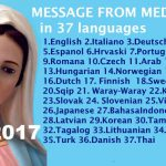 Message from Medjugorje 25-3-2017 (in 37 languages)