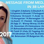 Message from Medjugorje 25-4-2017 (in 38 languages)