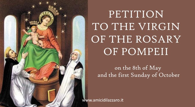Petition to the Virgin of the Rosary of Pompeii