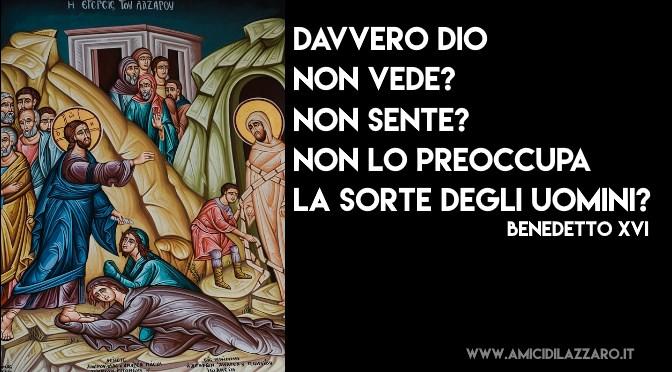 La parabola del povero Lazzaro spiegata da Benedetto XVI