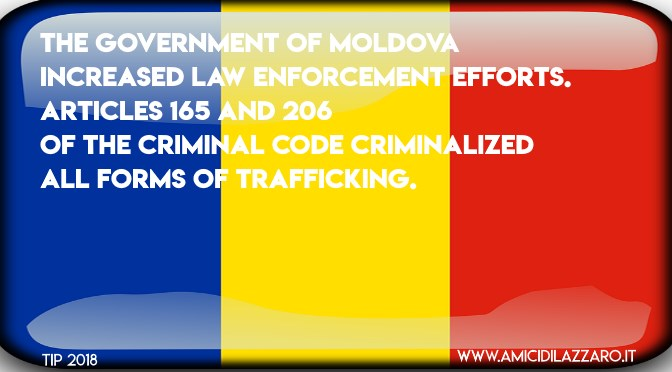 Prosecution of human trafficking in Moldova (TIP 2018)