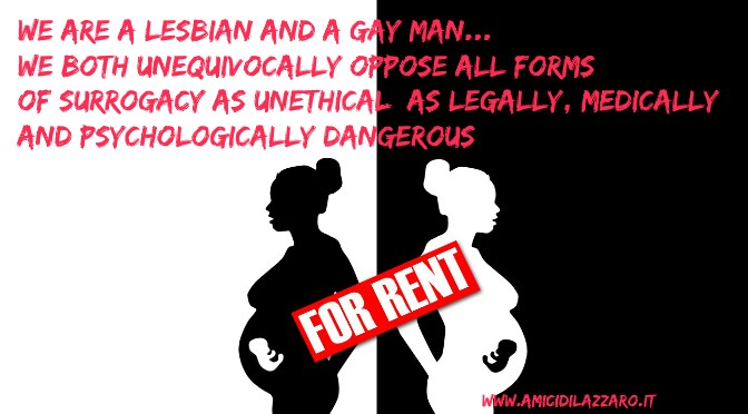 "Gay Rights and Surrogacy Wrongs: Say ""No"" to Wombs-for-Rent"