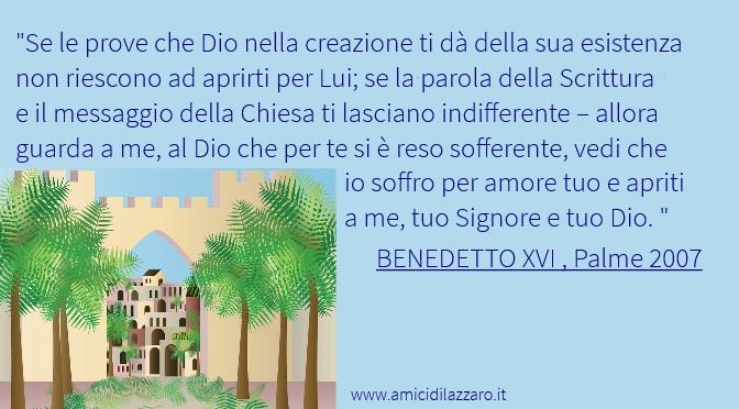 Benedetto XVI spiega la Domenica delle Palme