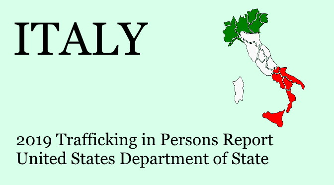 Prevention of human trafficking in Italy (TIP 2019)
