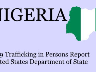 Prosecution of human trafficking in Nigeria (TIP 2019)