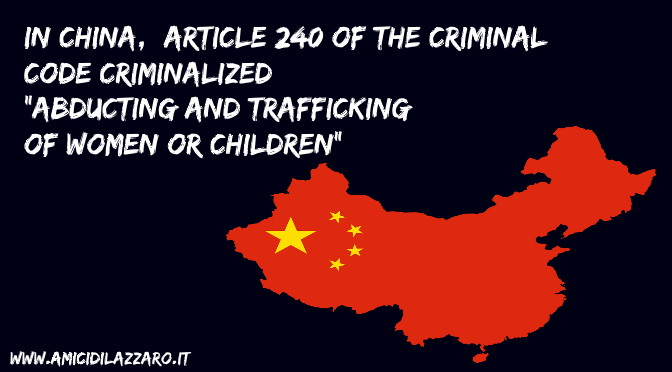 Protection and prevention of human trafficking in China (TIP2018)