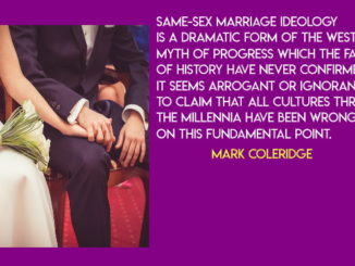 Is same-sex marriage about love? (Mark Coleridge)