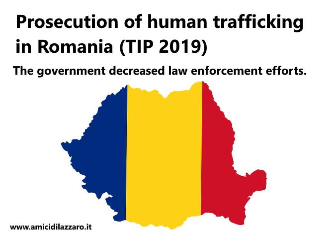 Prosecution of human trafficking in Romania (TIP 2019)