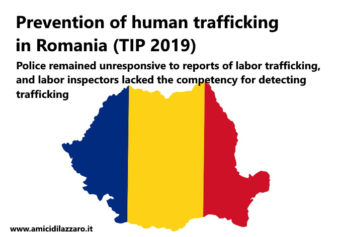Prevention of human trafficking in Romania (TIP 2019)