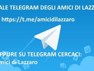 Canale Telegram degli Amici di Lazzaro