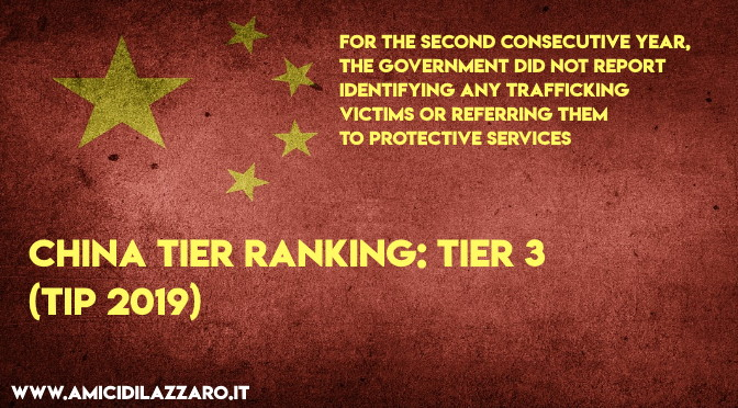 China TIER ranking: TIER 3 (TIP 2019)