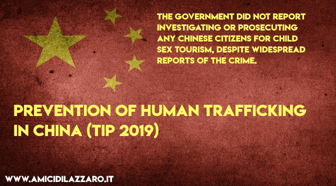 Prevention of human trafficking in China (TIP 2019)