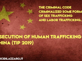 Prosecution of human trafficking in China (TIP 2019)