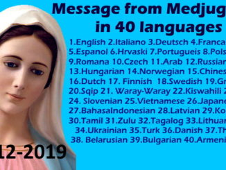 Message from Medjugorje 25-12-2019 (in 40 languages)